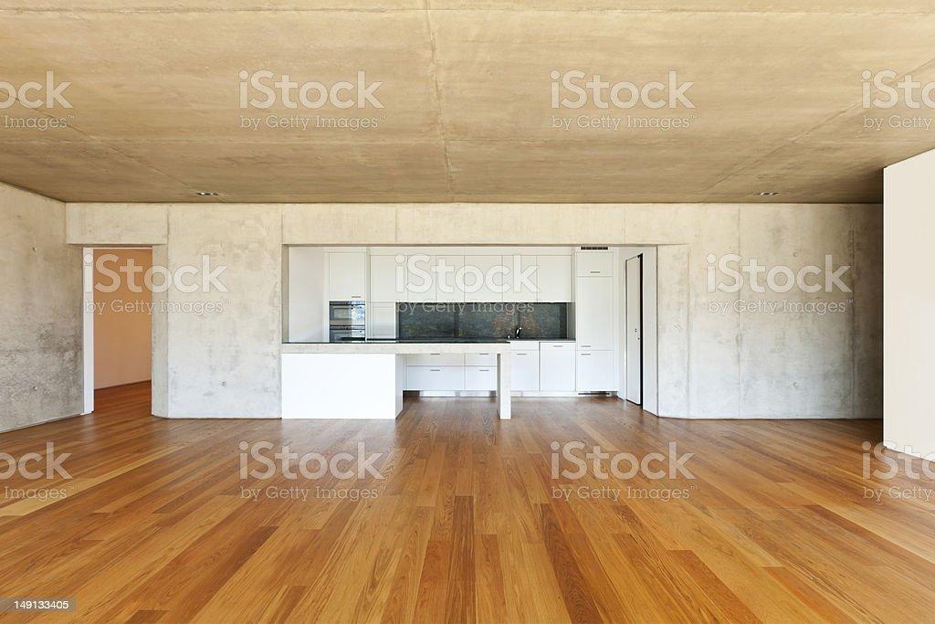 interior large room, kitchen stock photo