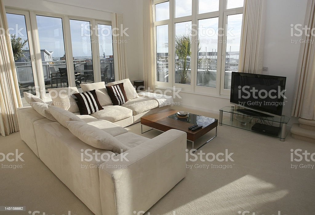 Interior living room of luxury home royalty-free stock photo