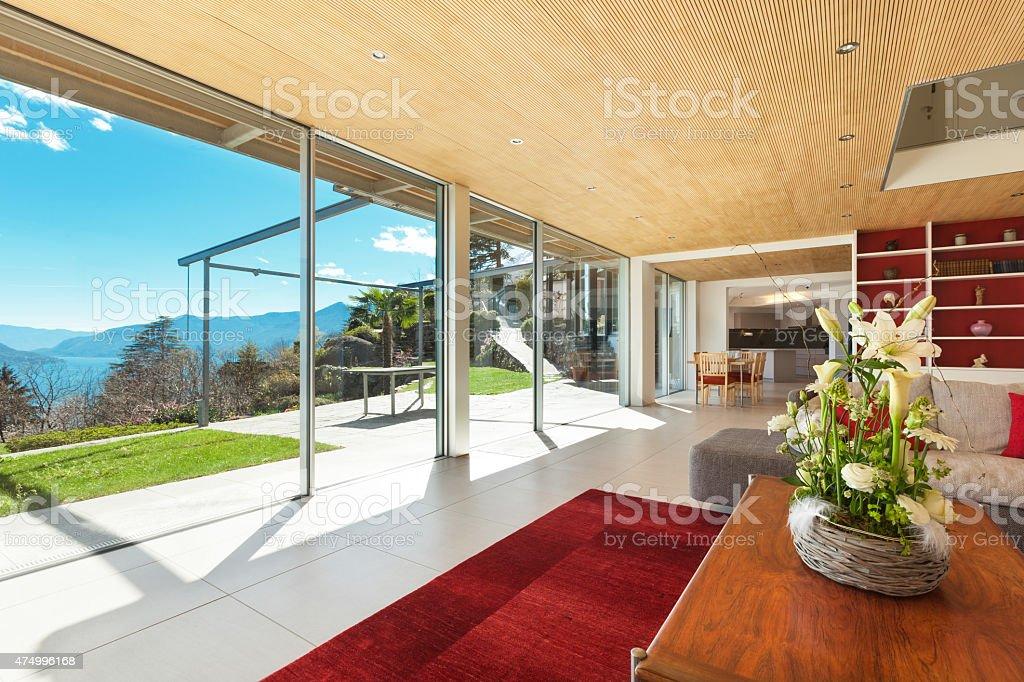 Interior, living room stock photo