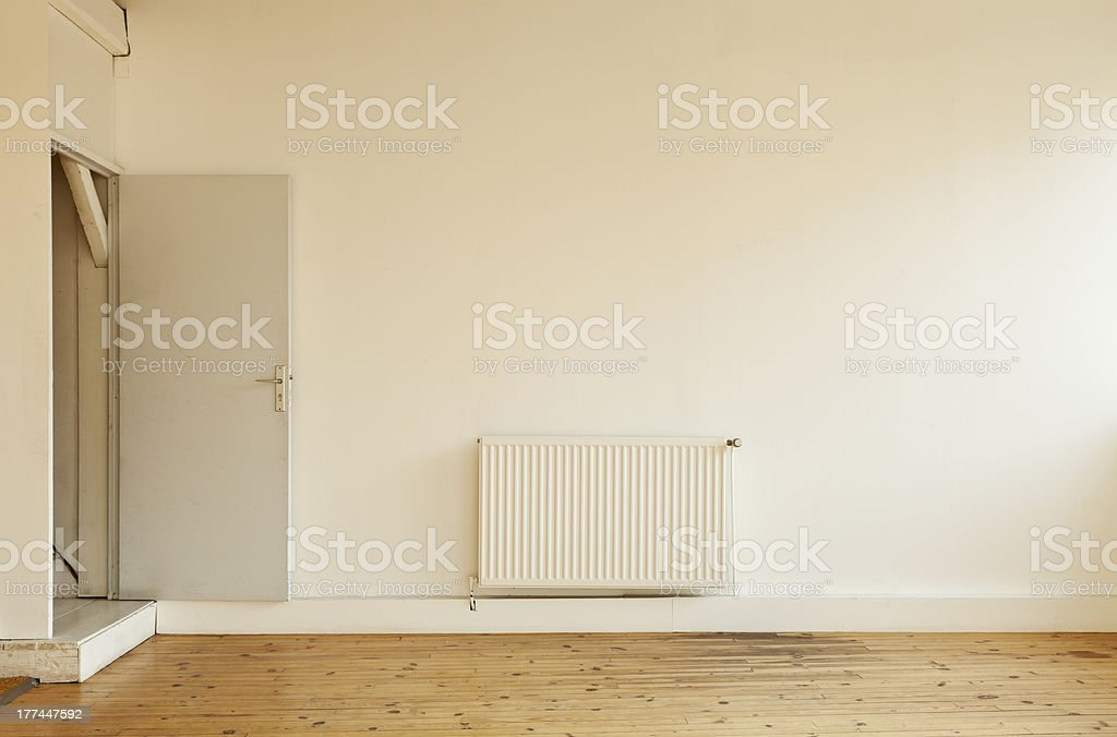 interior, loft in Paris, front view wall royalty-free stock photo