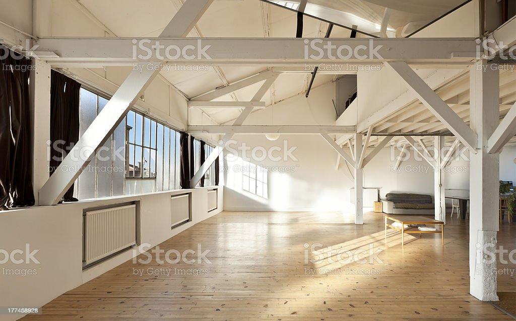 interior, loft in Paris royalty-free stock photo