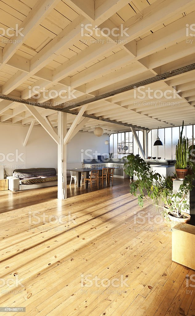 interior, loft in Paris royalty-free stock photo