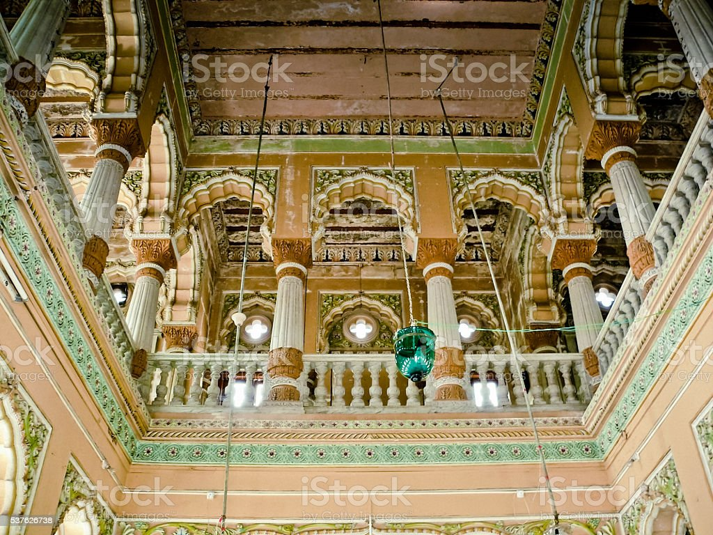 Interior Lord Shiva Temple at Mahadji Shinde Chatri, Wanawadi, Pune stock photo