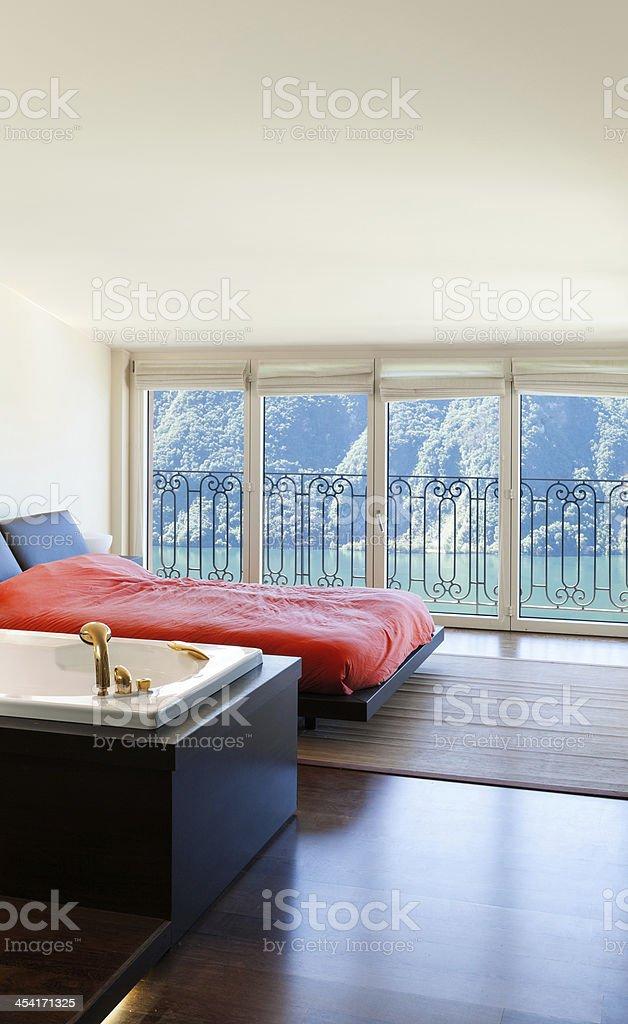 interior luxury apartment, bedroom royalty-free stock photo