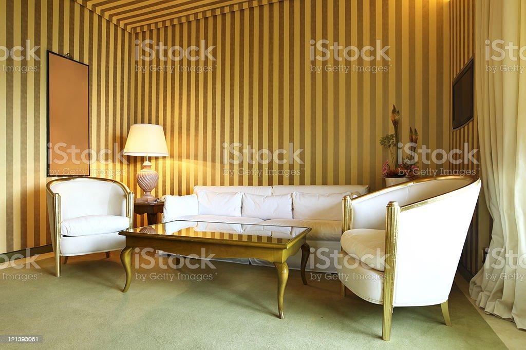interior luxury apartment, comfortable classic living room royalty-free stock photo