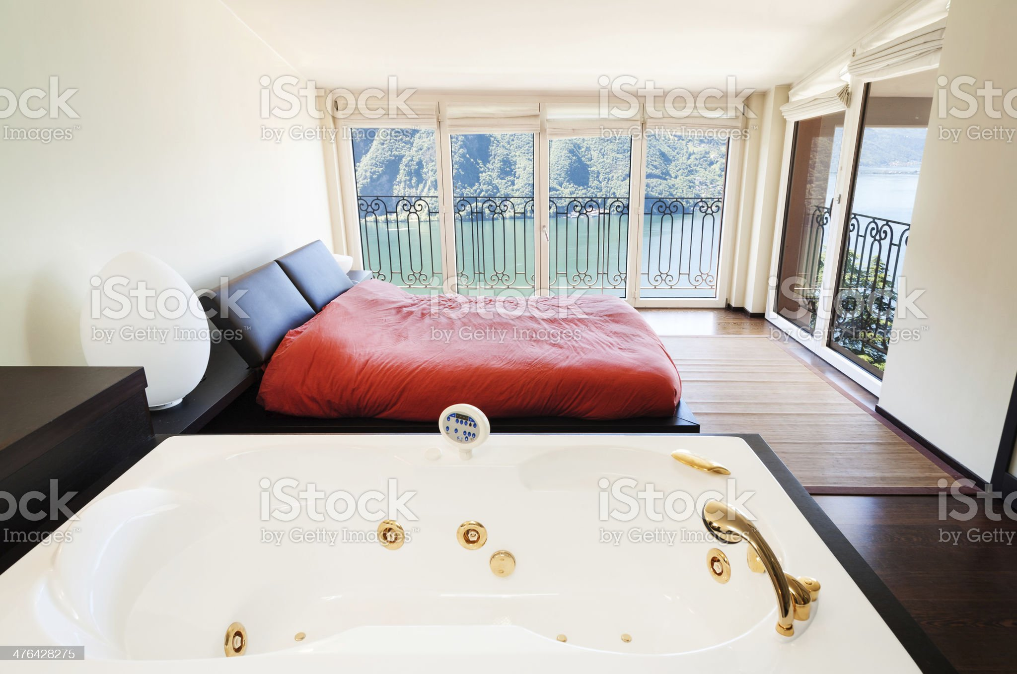 interior luxury apartment, jacuzzi royalty-free stock photo