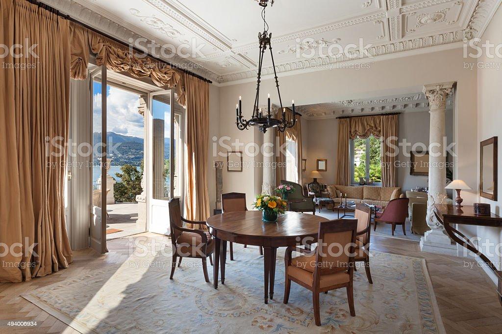 Interior, luxury living room stock photo