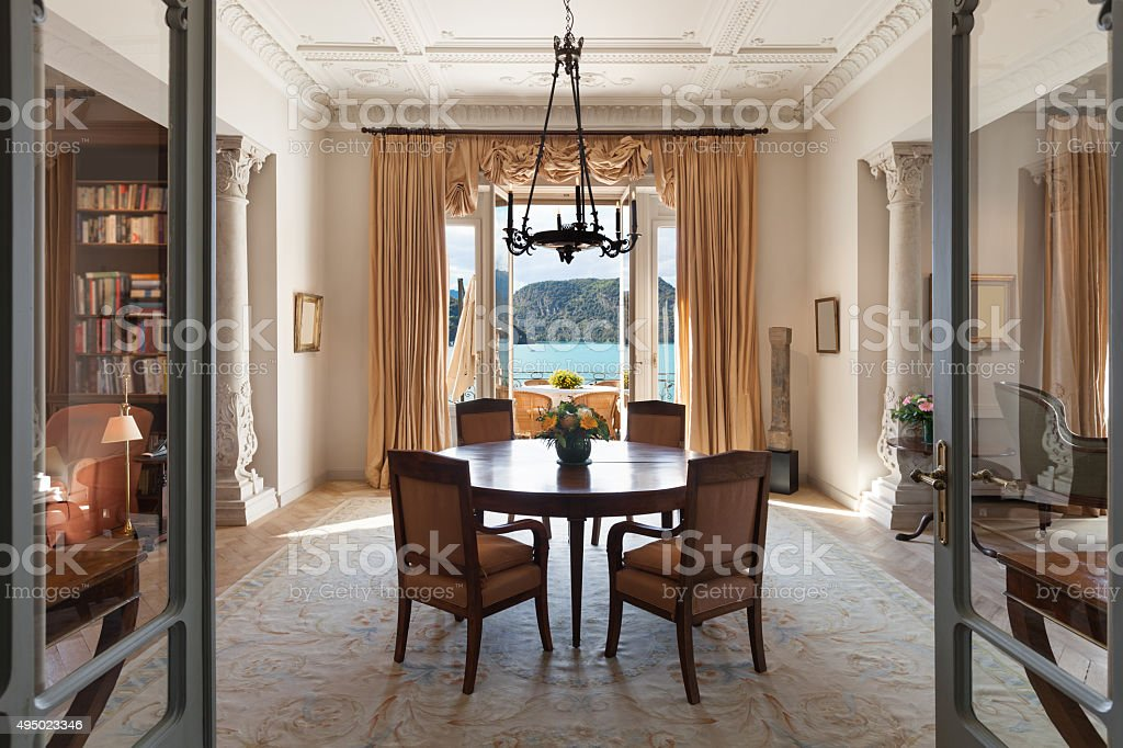 Interior, luxury living room stock photo