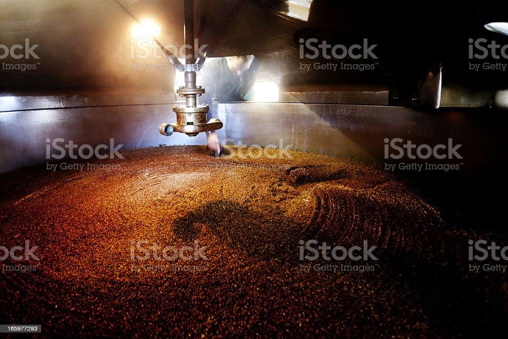 Interior, mash tun and dissolving vat stock photo