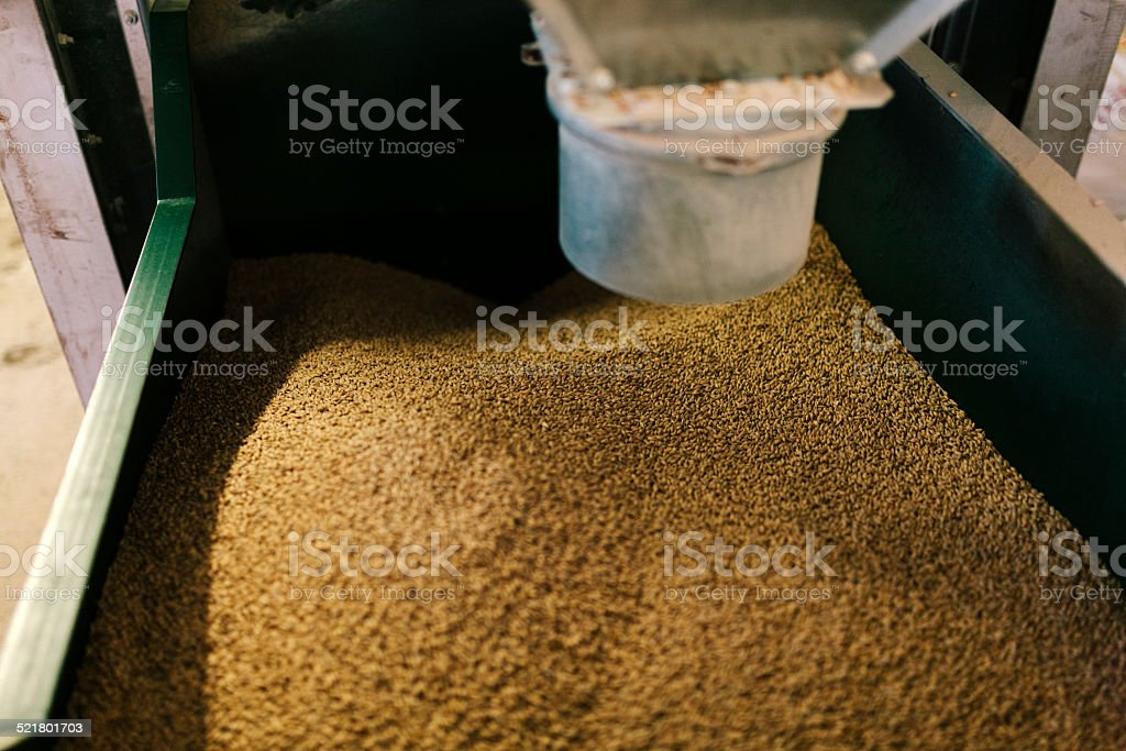 Interior, mash tun, brewery equipment stock photo
