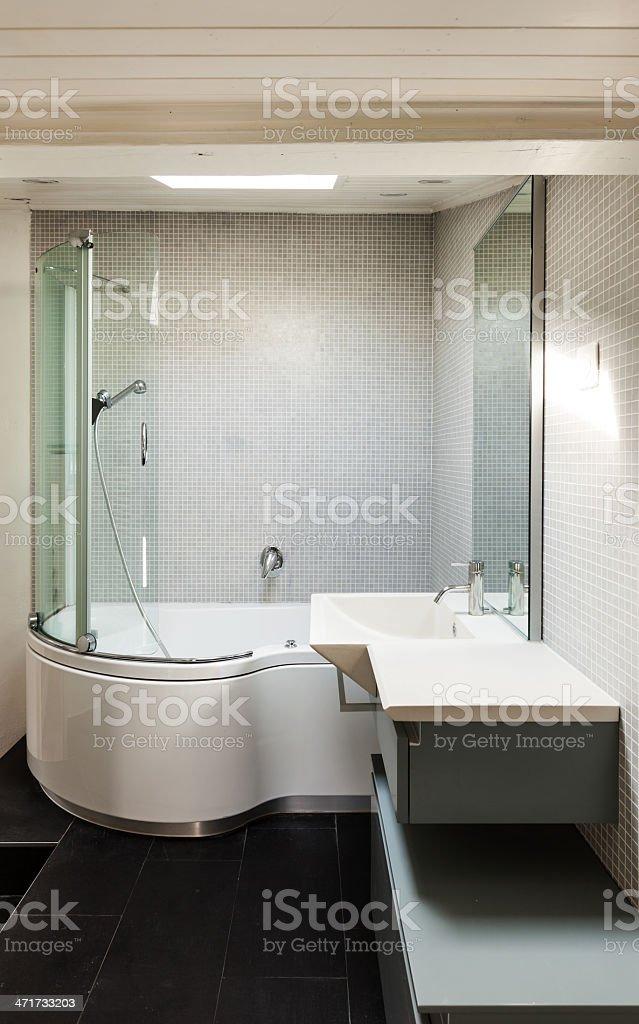 interior, modern bathroom royalty-free stock photo