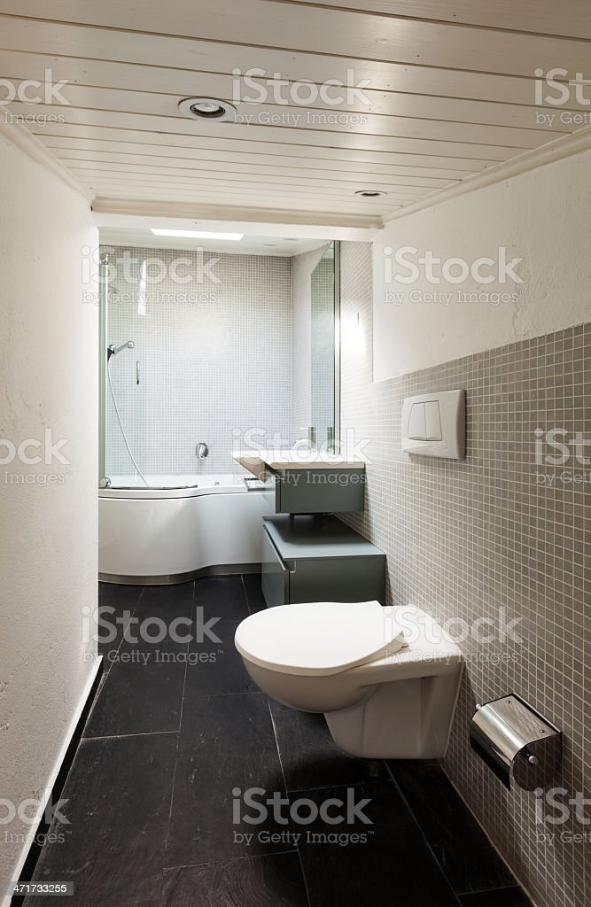 interior, modern bathroom royalty-free stock photo