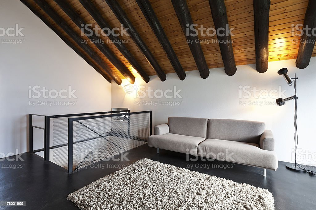Interior, modern chalet royalty-free stock photo