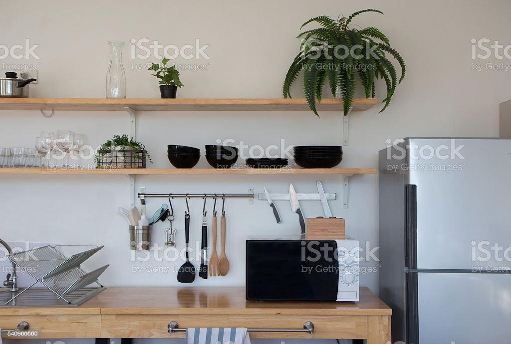 interior modern kitchen stock photo