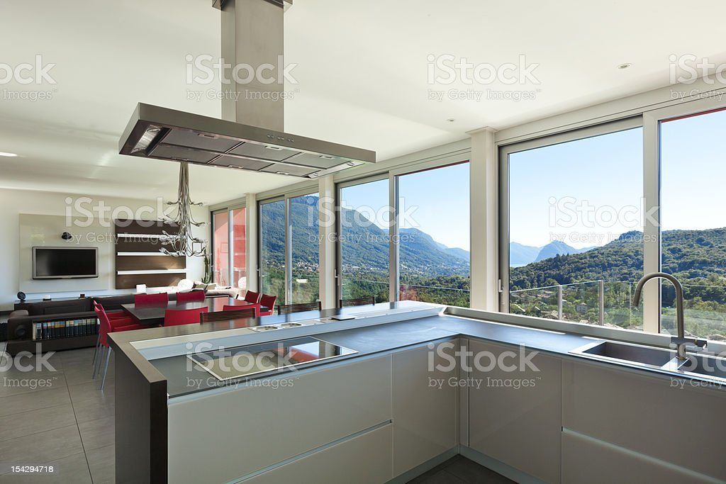 interior, modern style, kitchen royalty-free stock photo