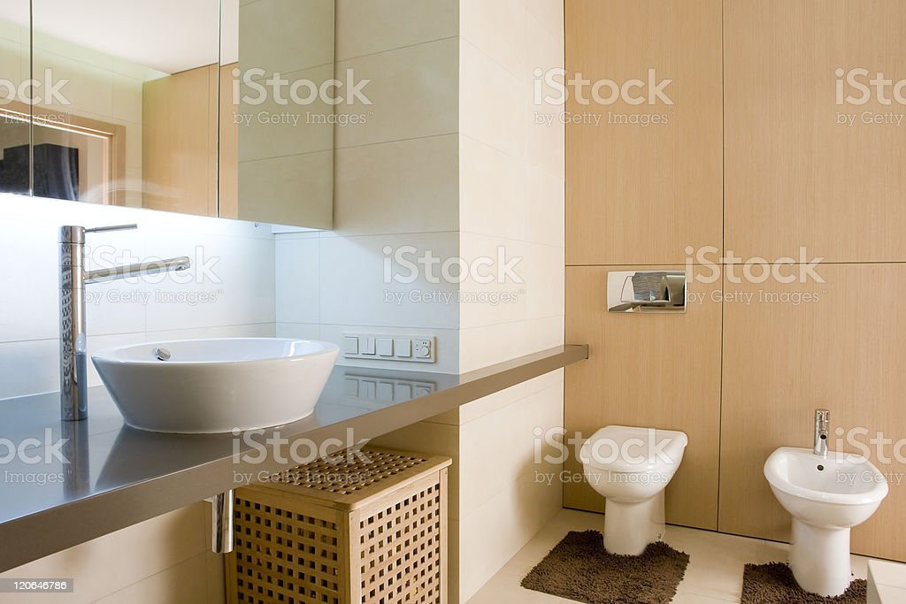 interior of a bathroom royalty-free stock photo