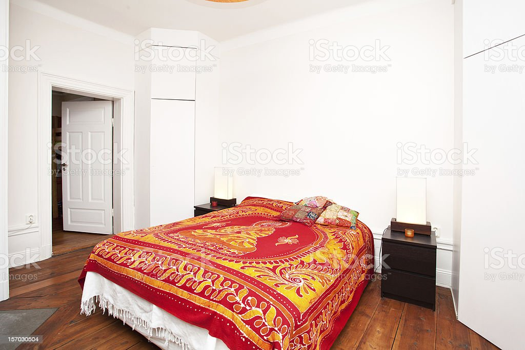 interior of a bedroom royalty-free stock photo
