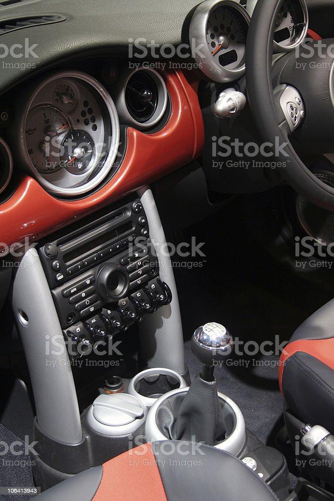 interior of a car royalty-free stock photo