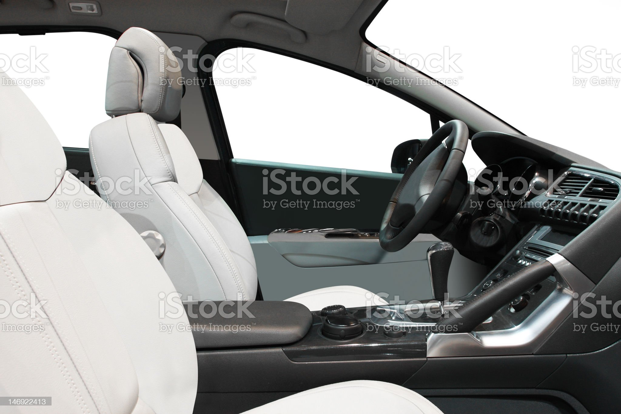 interior of a car royalty-free stock photo
