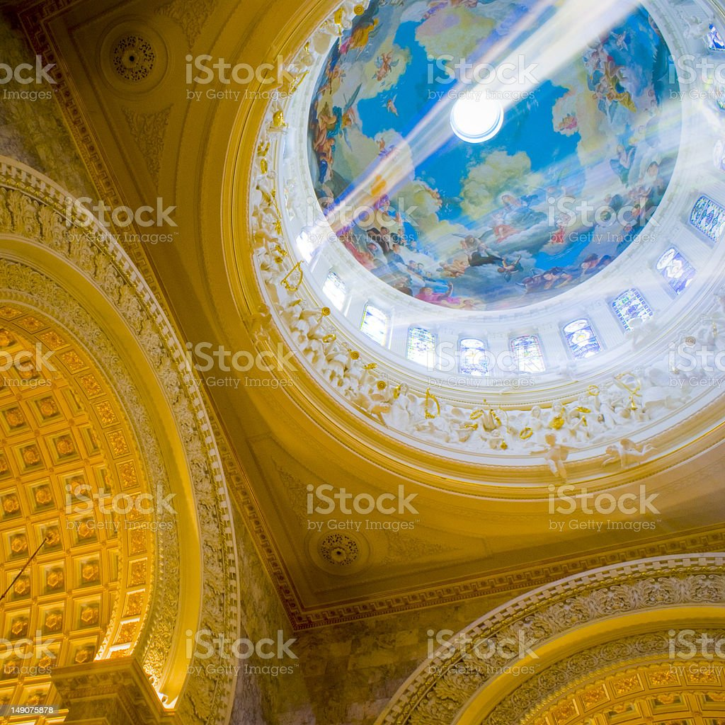 Interior of a cathedral royalty-free stock photo