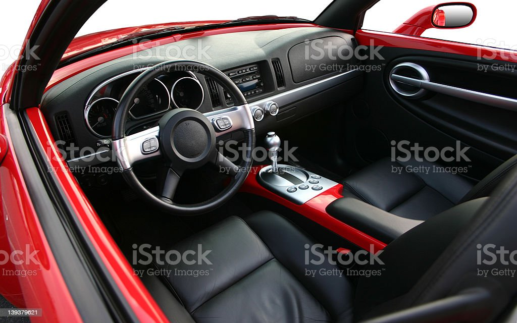Interior of a Chevrolet SSR royalty-free stock photo