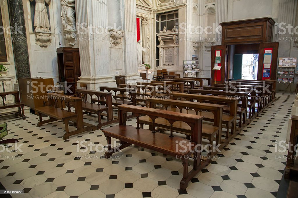 interior of a church royalty-free stock photo