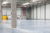 Interior of a clean, brand new cement storehouse
