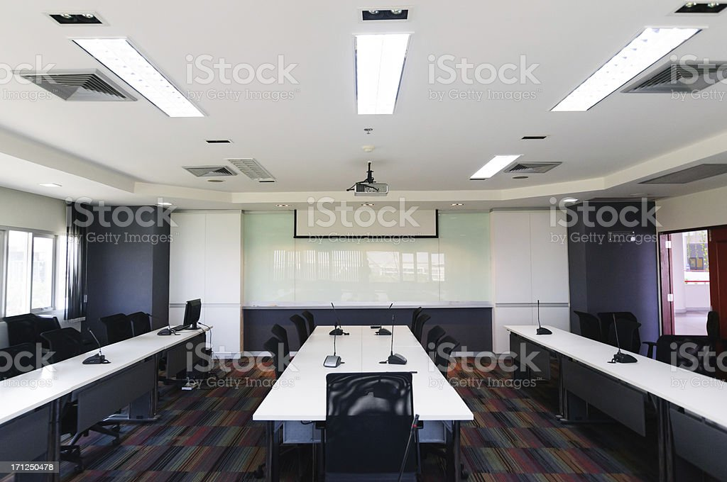 Interior of a contemporary office with modern decor stock photo