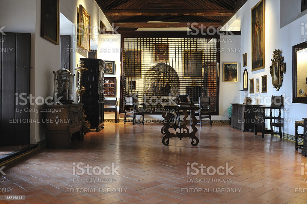 Interior of a convent in Seville, Spain royalty-free stock photo