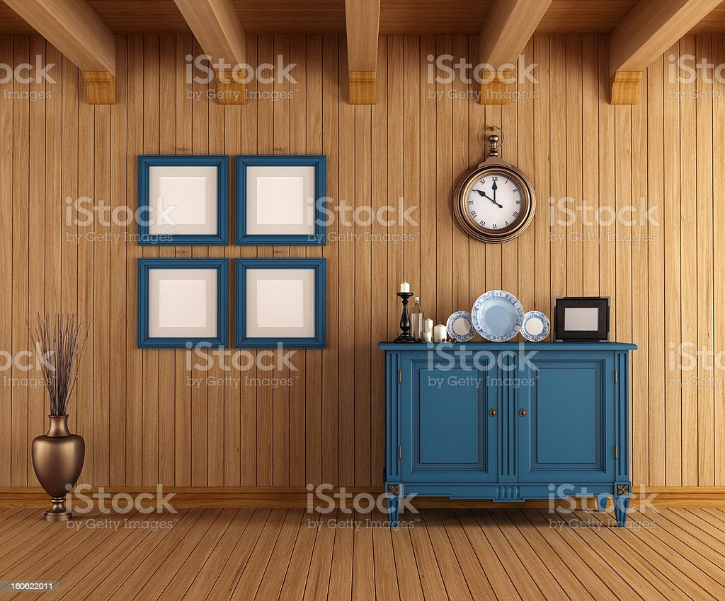 Interior of a country house royalty-free stock photo