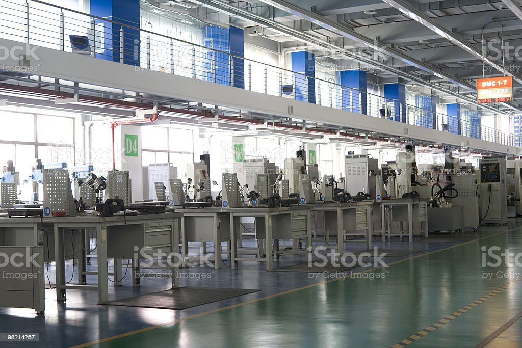 Interior of a DMC stock photo