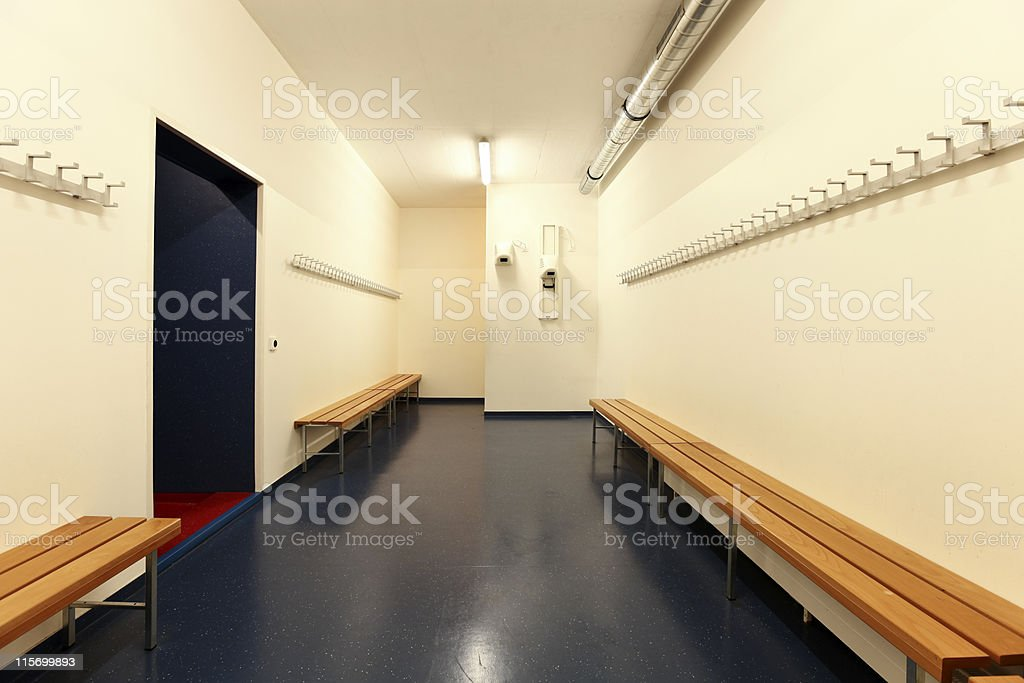 interior of a dressing room stock photo