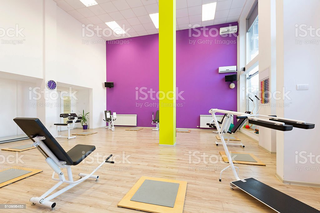 Interior of a fitness club stock photo