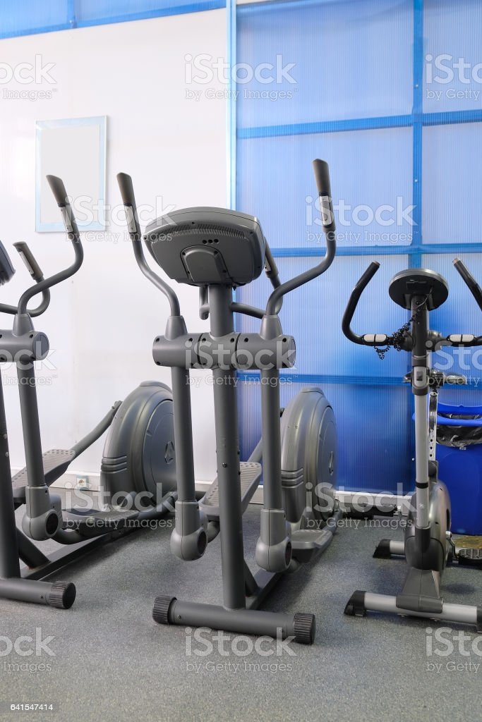 Interior of a fitness hall stock photo