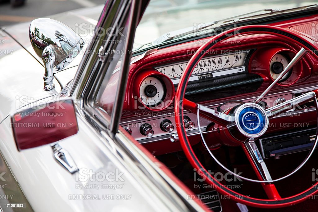 Interior of a Ford Galaxie 500 royalty-free stock photo