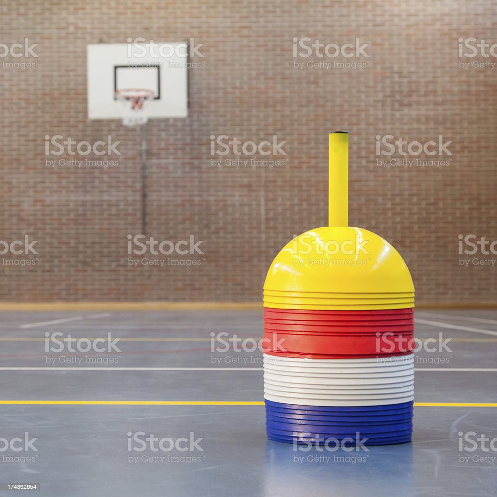 Interior of a gym at school royalty-free stock photo