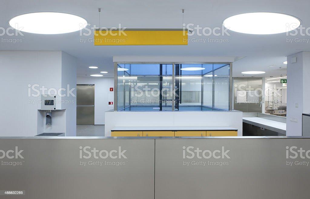 Interior of a Hospital Emergency stock photo