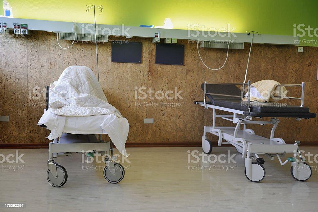 Interior of a hospital room stock photo