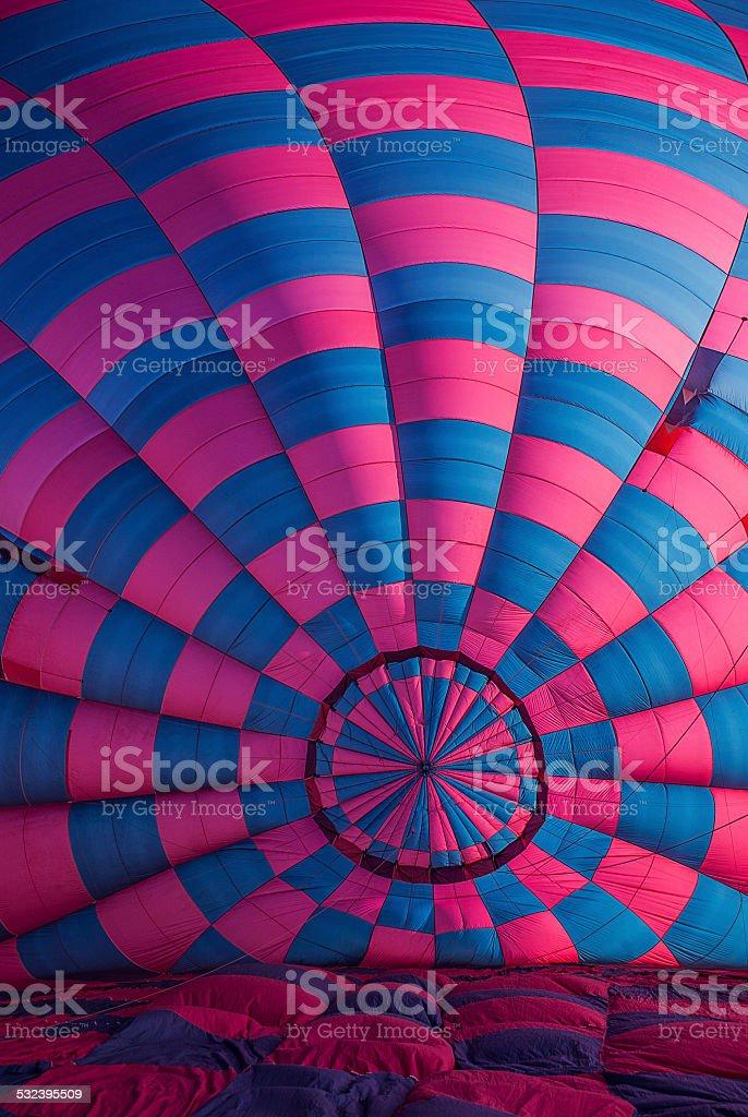 Interior of a hot air balloon stock photo