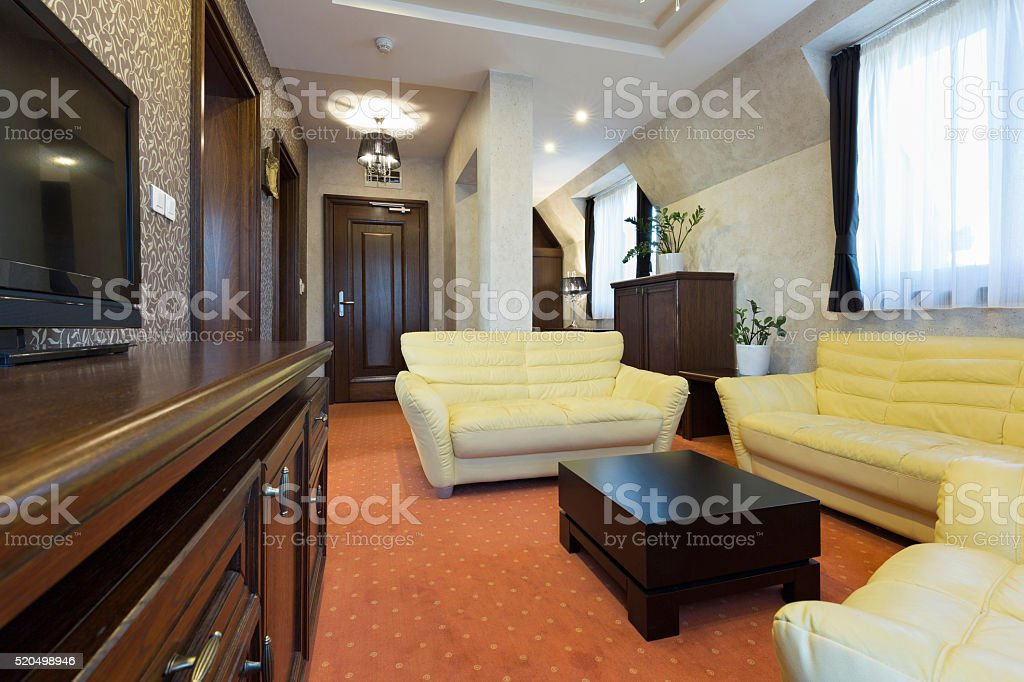 Interior of a hotel apartment stock photo