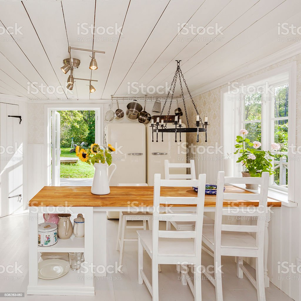 interior of a kitchen stock photo