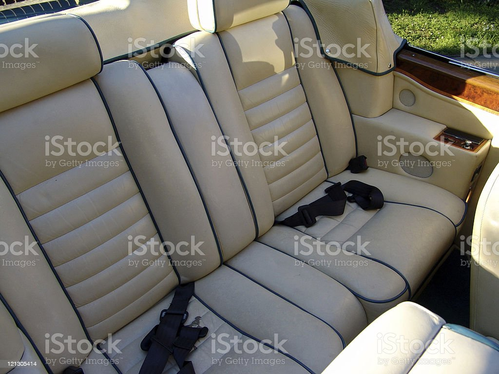 interior of a luxory car royalty-free stock photo
