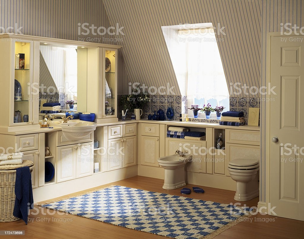 Interior of a luxurious bathroom royalty-free stock photo
