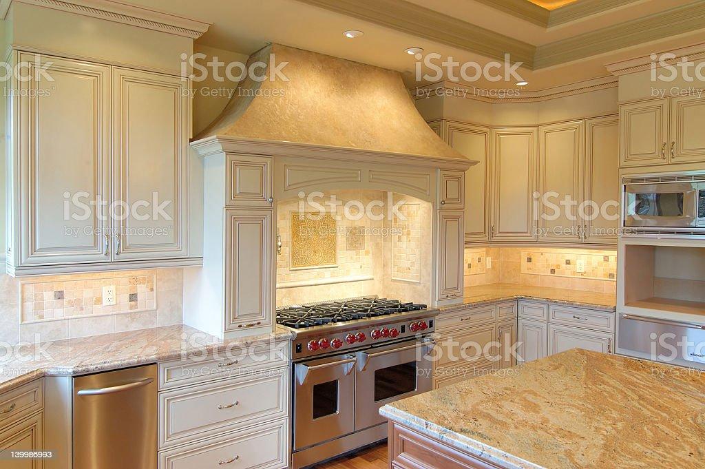 Interior of a luxurious modern kitchen royalty-free stock photo