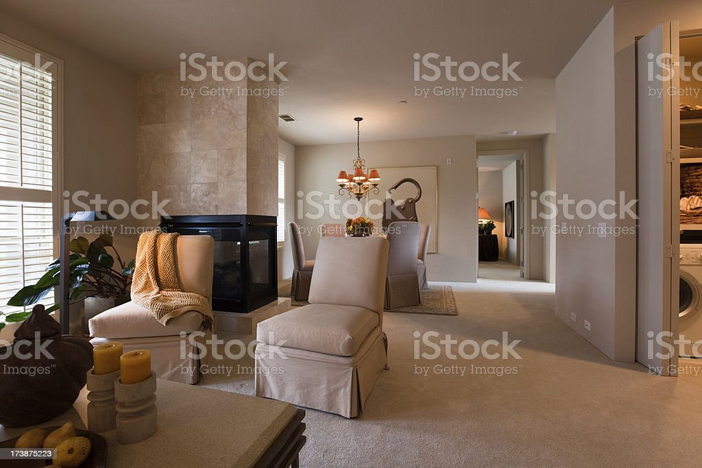 Interior of a modern american apartment royalty-free stock photo