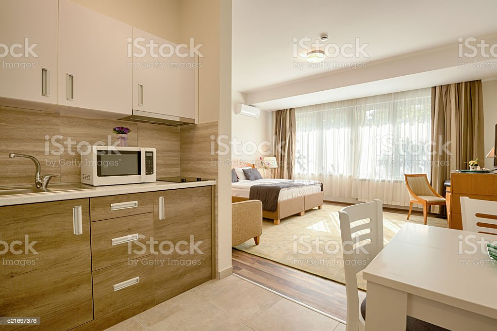 Interior of a modern apartment stock photo