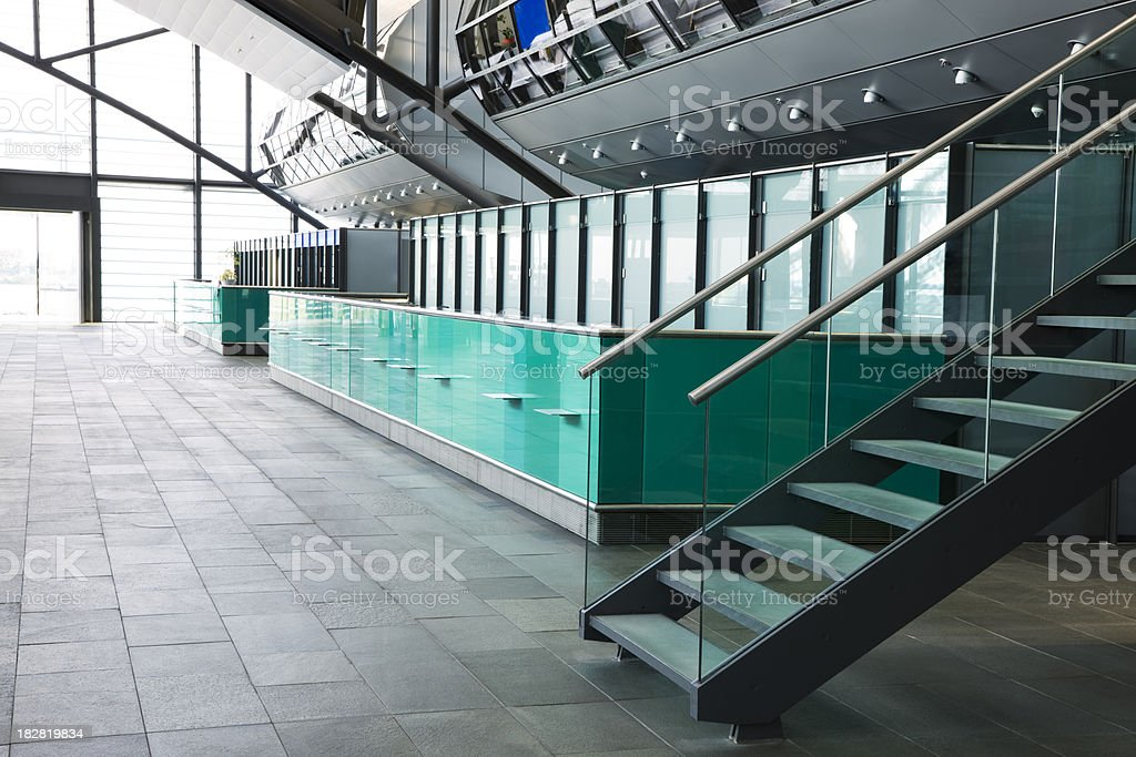 Interior of a Modern Building royalty-free stock photo