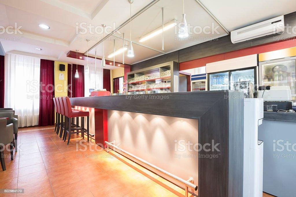 Interior of a modern cafe stock photo