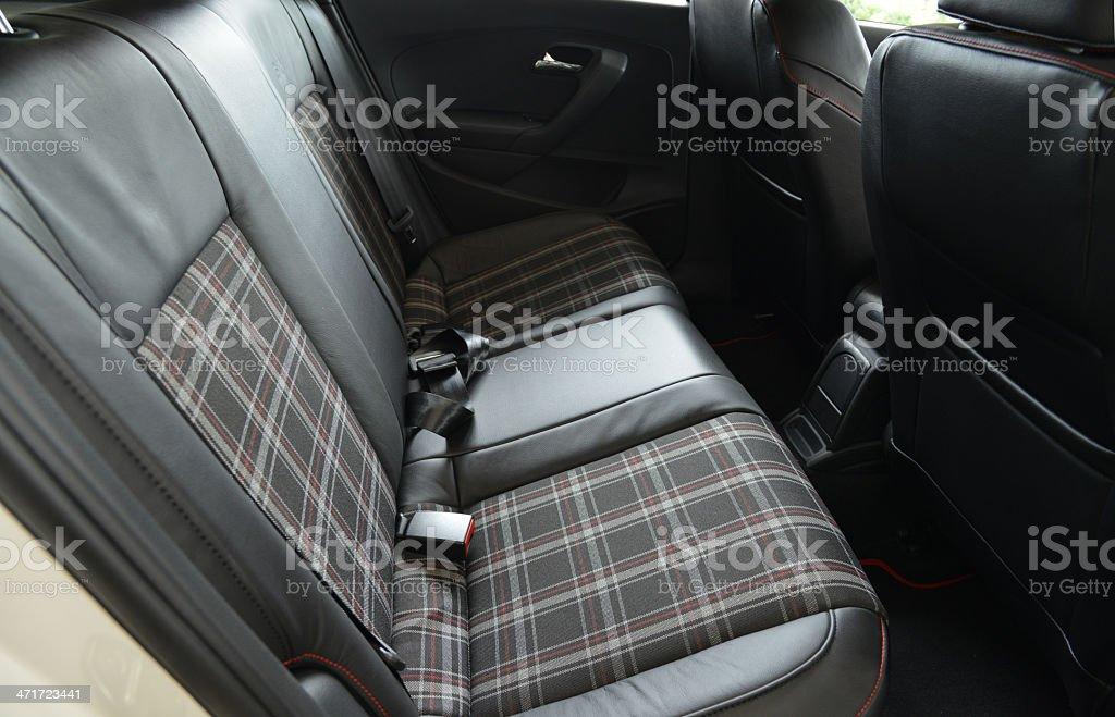 Interior of a modern car, back seats royalty-free stock photo