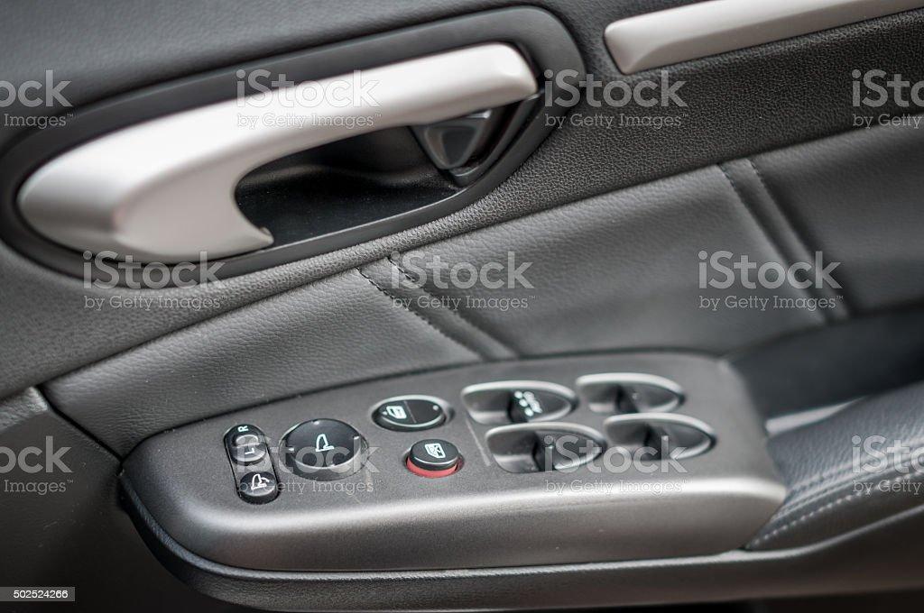 Interior of a modern car stock photo